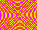 Orange and Yellow Spiral Royalty Free Stock Photos