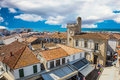 Orange and yellow tiled roofs of Provence Royalty Free Stock Photo