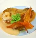 Orange Zest Poached Pears Stock Image