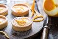 Orange zesty homemade tarts
