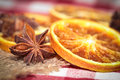 Oranges and anise christmas decoration with Stock Image