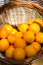 Oranges in basket photography of Stock Photo