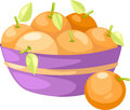 Oranges in basket vector Royalty Free Stock Photo