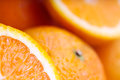 Oranges closeup macro soft focus background Royalty Free Stock Image