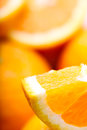 Oranges closeup macro soft focus background Royalty Free Stock Images