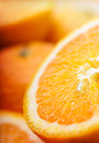 Oranges closeup soft focus macro Royalty Free Stock Image