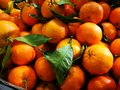 Oranges in farmers market Royalty Free Stock Photo