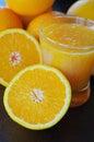 Oranges healthy with fresh orange juice Royalty Free Stock Image