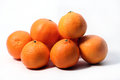 Oranges image of some on white Stock Photography