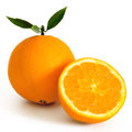 Oranges isolated on white background Royalty Free Stock Photo