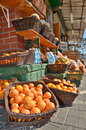 Oranges in the jaffa market fresh and fruit tel aviv israel Royalty Free Stock Images