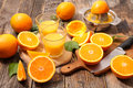 oranges and juice Royalty Free Stock Photo