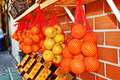 Oranges and lemons in the jaffa market fresh fruit tel aviv israel Royalty Free Stock Photography