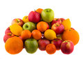 Oranges and lemons, red and green apples Royalty Free Stock Photo
