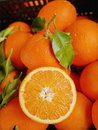 Oranges market organic leaf Royalty Free Stock Photos