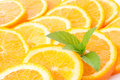 Oranges and mint Royalty Free Stock Photo