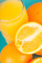 Oranges and Orange Juice Royalty Free Stock Photo