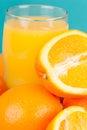 Oranges and Orange Juice Royalty Free Stock Photo
