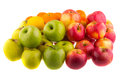 Oranges, red and green apples . Fruit. Royalty Free Stock Photo