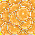 Oranges slices pattern Stock Photography