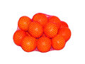 Oranges tropical in basket isolated on white background Stock Photography