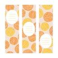 Oranges. Vertical banner set. Scratched fruits.
