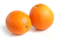 Oranges on a white background Royalty Free Stock Photography