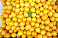 Oranges yellow orange very fresh in the fruit shop for sale Royalty Free Stock Images