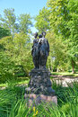 Oranienbaum russia sculptural group three graces three virtues july in summer park Stock Image