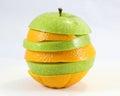 Oranje de stapelart van apple Royalty-vrije Stock Foto
