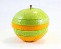 Oranje de stapelart van apple Stock Foto's