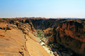 Oranje river canyon and stone desert Royalty Free Stock Photo