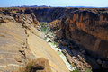 Oranje river canyon and stone desert Royalty Free Stock Photography