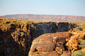 Oranje river canyon and stone desert Stock Photography
