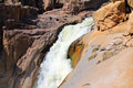 Oranje river canyon and stone desert waterfall Royalty Free Stock Photo