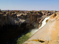 Oranje river landscape and stone desert waterfall republic of south africa Stock Photography