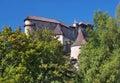 Orava castle hidden in forest