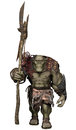 Orc warrior with an axe d render of a fantasy a huge Stock Photos