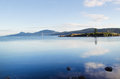Orcas island harbor in summertime horizontal photo of within the san juan islands during summer evening Stock Photo