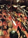 Orchestra instruments on chairs waiting for musicians Royalty Free Stock Images