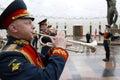 Orchestra militare su cerimonia Fotografia Stock