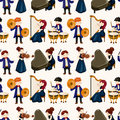 Orchestra music player seamless pattern Stock Photos