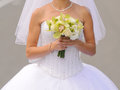 Orchidee und rose wedding bouquet Stockbilder
