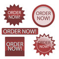 Order now button Stock Images