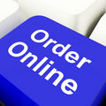 Order Online Computer Key Royalty Free Stock Photos