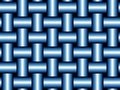 Orderly blue weave Royalty Free Stock Photo