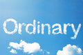 Ordinary cloud word floating in the sky Stock Photos