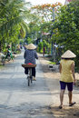 Ordinary life at vietnamese village around mekong delta, vietnam Royalty Free Stock Photo