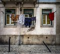 Ordinary stories of the old Lisbon. Portugal. Royalty Free Stock Photo