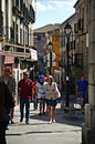 Ordinary street in Avila 12 Royalty Free Stock Photo